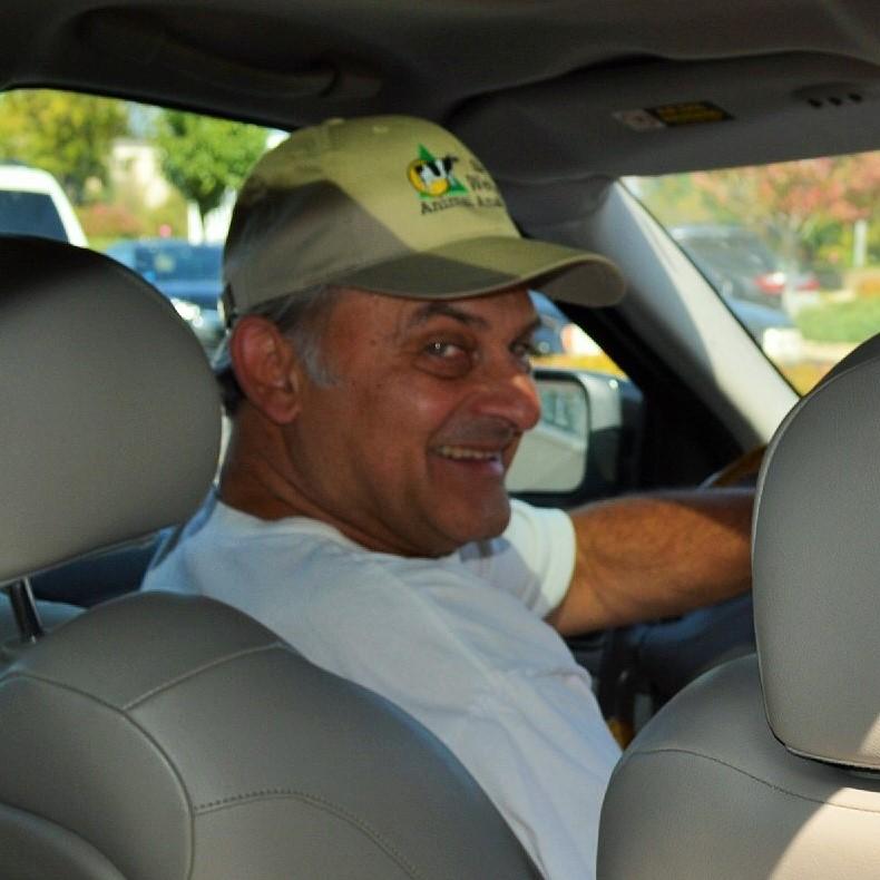 Greg Palen in the car
