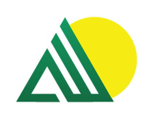 green mountains in front of yellow sun aaa logo